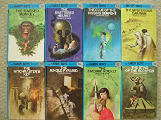 Hardy Boys Set 51-58 (Masked Monkey ~ Shattered Helmet ~ Clue of the Hissing Serpent ~ Mysterious Caravan ~ Witchmaster's Key ~ Jungle Pyramid ~ Firebird Rocket ~ Sting of the Scorpion)