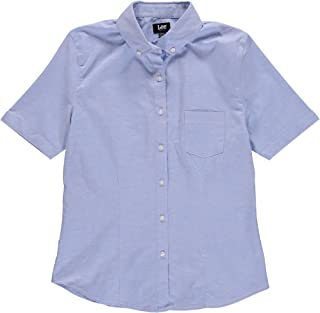 Lee Uniforms Junior's' Short-Sleeve Stretch Oxford Blouse