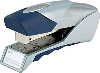 Rexel Gazelle Half Strip Stapler, 25 Sheet Capacity, Plastic Body, Blue and Silver, 2100011