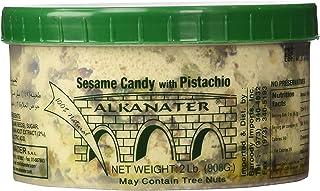 Alkanater Halawa, Sesame Candy (Pistachio, 2 LB)