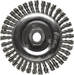 Weiler Dualife Bevel Wire Wheel Brush 4-1//2 Diameter 12500 rpm 4-1//2 Diameter 0.020 Wire Diameter 5//8-11 Arbor Threaded Hole 0.020 Wire Diameter Stainless Steel 302 Partial Twist Knotted 3//8 Brush Face Width 5//8-11 Arbor 1 Bristle Length