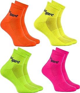 Hombre Mujer Calcetines de Deporte Neon