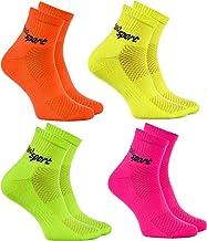 Rainbow Socks - Man Vrouw Badstof Sport Enkelsokken Neon