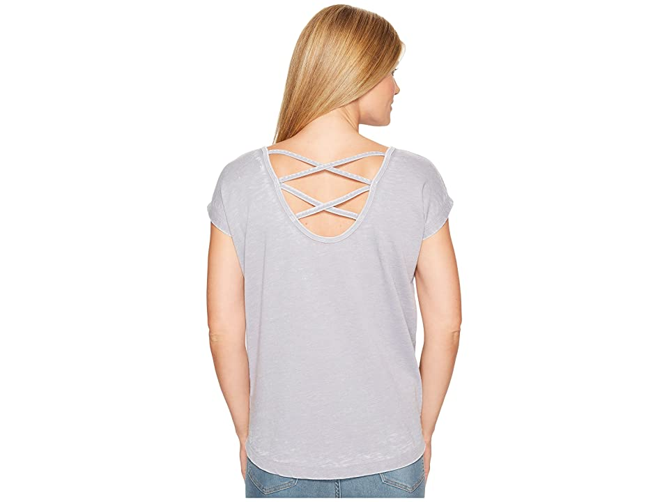 Allen Allen Double Cross Back Tee (Pale Grey) Women's T Shirt