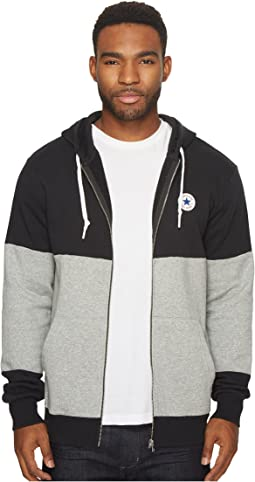 Converse - Core Color Block Full Zip Hoodie