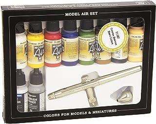 Vallejo Model Air Set - Ultra Airbrush + 10 Basic Colours - VAL71167