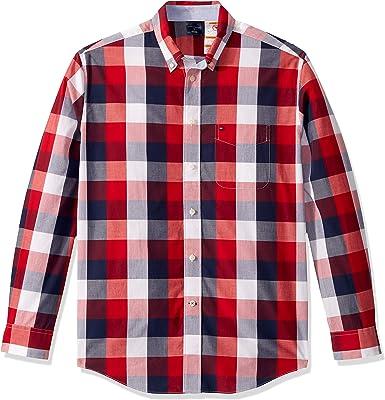Tommy Hilfiger Hombre Manga Larga Camisa de Botones