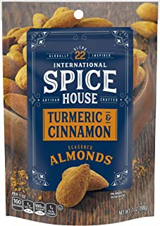 International Spice House Turmeric & Cinnamon Seasoned Almonds, 7 oz Bag