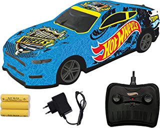 Hot Wheels Remote Control Rechargeable Racing Car,Blue