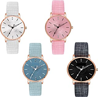 Watch City Analog Attractive Multi Color Dial Latest Arrived Watch for Women & Girl's Watch Combo Pack of 4