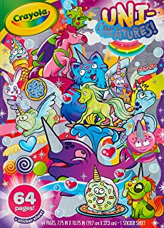 Crayola Uni-Creatures Colouring Book, 64 Magical Pages Filled with Unicorns, Donuts, Sprinkles and More, Great  Girls and ...