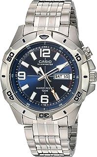 Casio Men's Sports Quartz Watch with Stainless-Steel Strap, Silver, 22 (Model: MTD1082D-2AVCF)