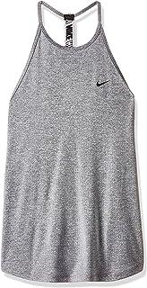 Nike Women's Dry Taelastika Stripe Tanks, Black (Blk/htr/blk), Medium (NKAO9788-010)