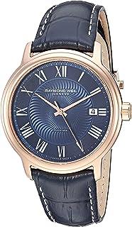 """ساعة رايموند ويل للرجال من """"كاسيو"""" بمينا انالوج بعقارب من الستانلس ستيل مع حزام من جلد العجل - ازرق، 0.2 (2237-PC5-00508)"""