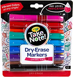 Take Note Colored Dry Erase Markers, 12 Count