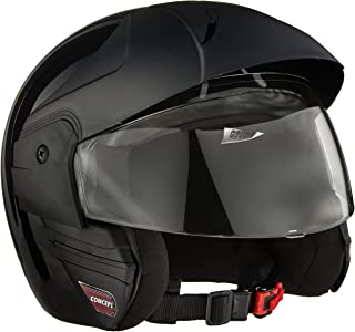 Studds Ninja Concept Eco Half Helmet (Black, M)