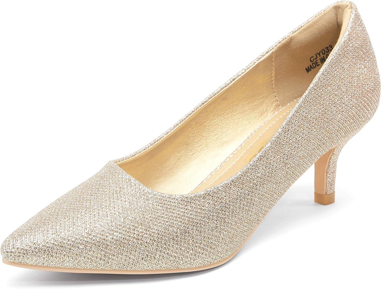 Vepose Women's Low Heels Pumps Dress Shoes Casual Wedding Bridal Shoes Pumps for Women