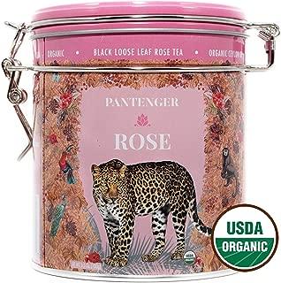 Rose Tea Loose Leaf -3.5 OZ- Rose Tea Organic. Tea Blends Loose Leaf - Finest Moroccan Rose Petals and Ceylon OP Black Tea Leaves from Uva. Pantenger Organic Tea Blend. Floral Black Rose Tea.