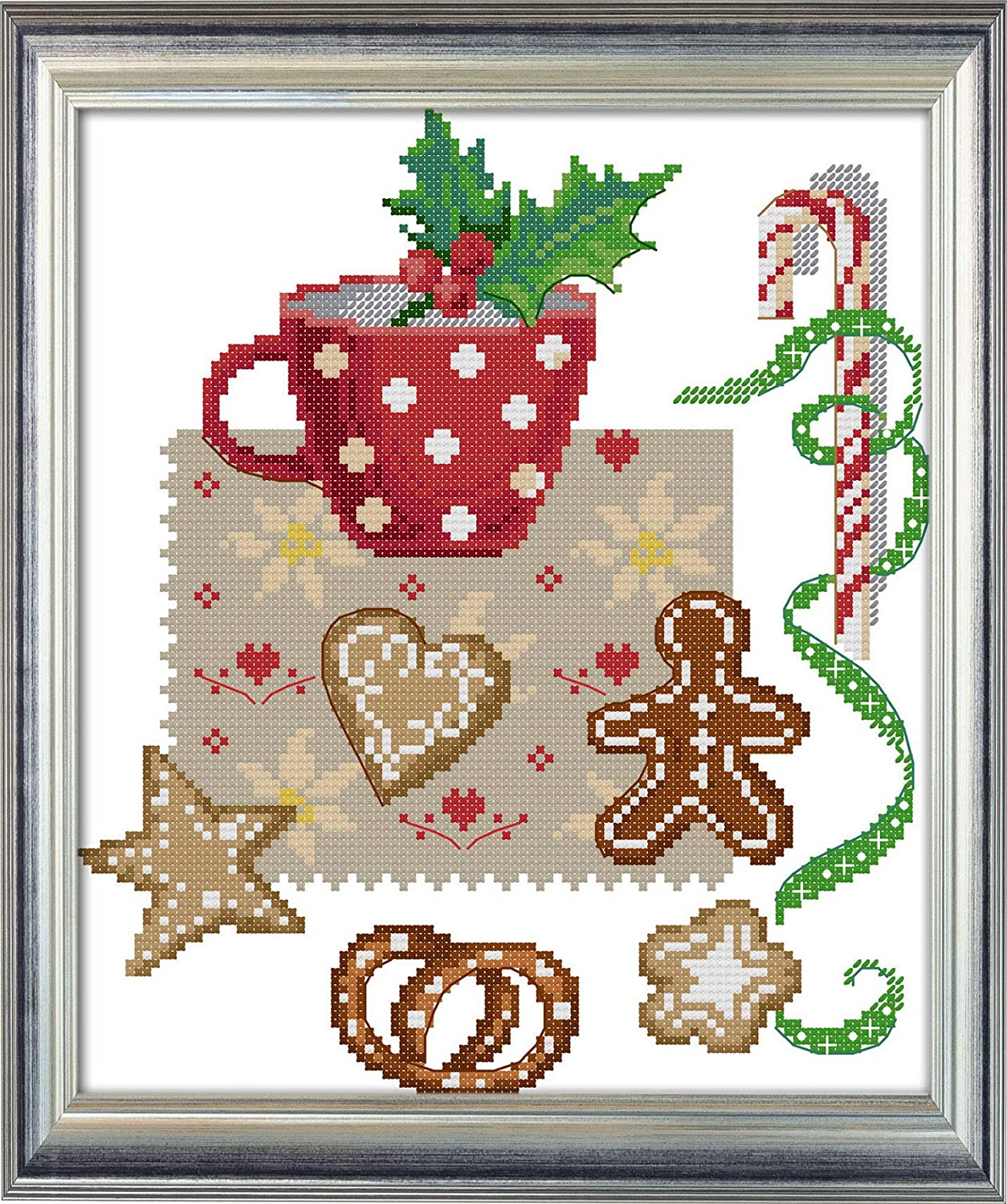 Joy Purchase Sunday Cross Stitch Kits Afternoon Te gift Christmas 14CT Stamped