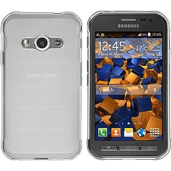 mumbi Hülle kompatibel mit Samsung Galaxy Xcover 3 Handy Case Handyhülle, transparent weiss