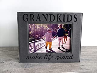 Gift for Grandparents Engraved Leatherette 5x7 Picture Frame