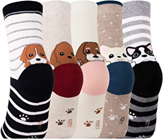 socks with dog on it