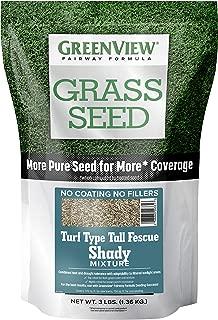 GreenView 2829349 Fairway Formula Grass Seed Turf Type Tall Fescue Shady Mixture, 3 lb.