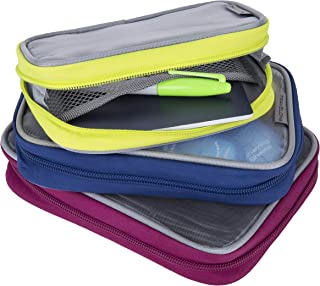 Travelon Set of 3 Lightweight Packing Organizers, Bolds, One Size
