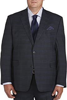 Big and Tall Deco Plaid Suit Jacket