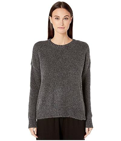 Eileen Fisher Airspun Wool Mohair Round Neck Top (Charcoal) Women