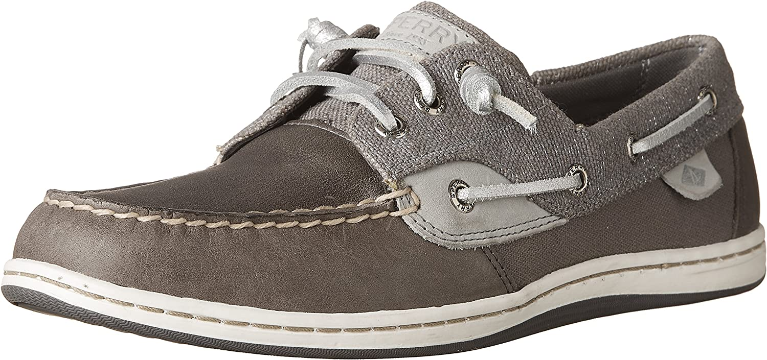 Sperry Women's Songfish Sparkle Canvas Boat shoes