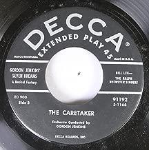 GORDON JENKINS' SEVEN DREAMS 45 RPM THE CARETAKER / THE PINK HOUSEBOAT