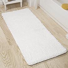 Lavish Home 2 Piece Memory Foam Shag Bath Mat Set - Burgundy White