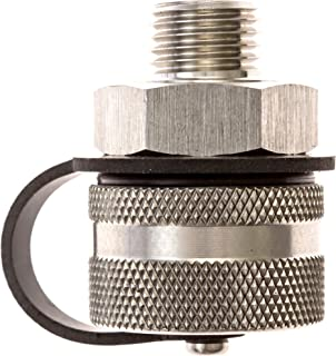 ValvoMax Stainless Oil Drain Valve - No Tools, No Mess, Fast Drain - for M20-1.50 - Stainless Drain Hose Attachment