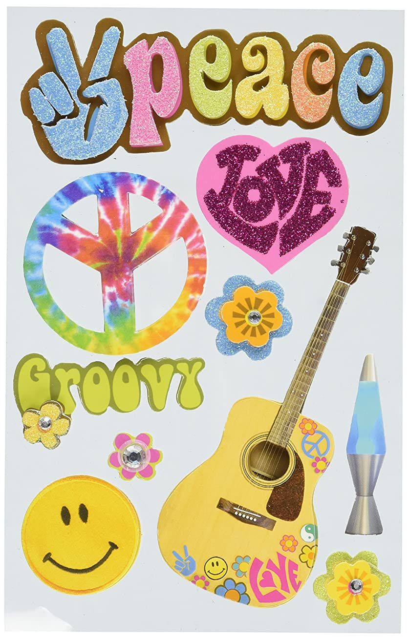 Paper House Productions STDM-0002E 3D Cardstock Stickers, Peace (3-Pack)