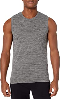 Peak Velocity Amazon Brand Men's Novelty Jaquard Muscle Tee