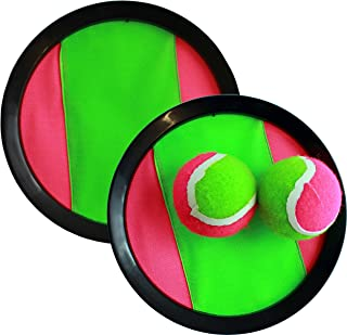 Hook and Latches Toss and Catch sport game for 2 players with 2 balls in a Mash bag(assorted colors)