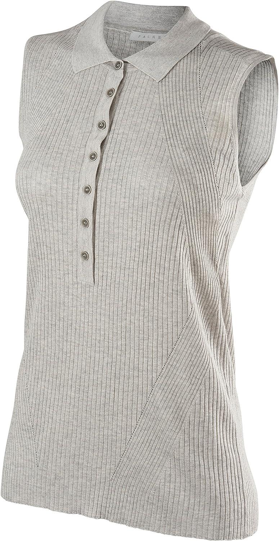 Falke Womens Imperia Sleeveless Polo Shirt  Light Grey Mel