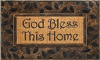 Dicksons God Bless Home Natural Brown 18 x 30 Inch Rubber & Coir Anti Slip Doormat