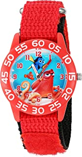Disney Boy's 'Finding Dory' Quartz Plastic and Nylon Watch, Color:Red (Model: W002745)