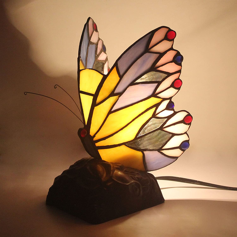 Style Pastoral Kreative Schmetterling Tischlampe Kinderlampe Nachtlicht - 20 cm B0771NNQ4N | Charmantes Design