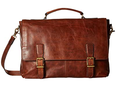 Frye Logan Top Handle (Cognac Antique Pull Up) Handbags