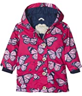 Hatley Kids - Botanical Butterflies Cotton Coated Raincoat (Toddler/Little Kids/Big Kids)
