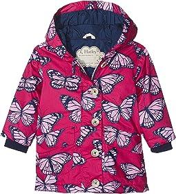 Botanical Butterflies Cotton Coated Raincoat (Toddler/Little Kids/Big Kids)