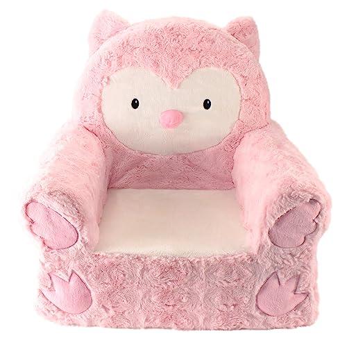 Animal Adventure Sweet SeatsPink Owl Childrenu0027s ChairLarge SizeMachine  Washable Cover