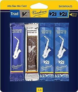 Vandoren SAXMIXA25 Reed Mix Card Strength #2.5