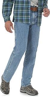 بنطلون جينز رجالي من Wrangler Performance Series مريح - لون رمادي فاتح