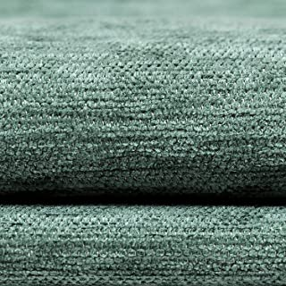 McAlister Textiles Plain Chenille   Duck Egg Blue Plain Curtain Fabric DIY Sewing + Crafting Material   Fabric Swatch 3x7 Inches