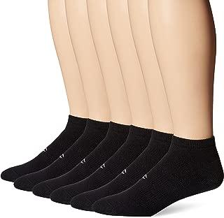 Champion Men's 6 Pack Low Cut Socks, Black, 10-13 (Shoe Size 6-12)