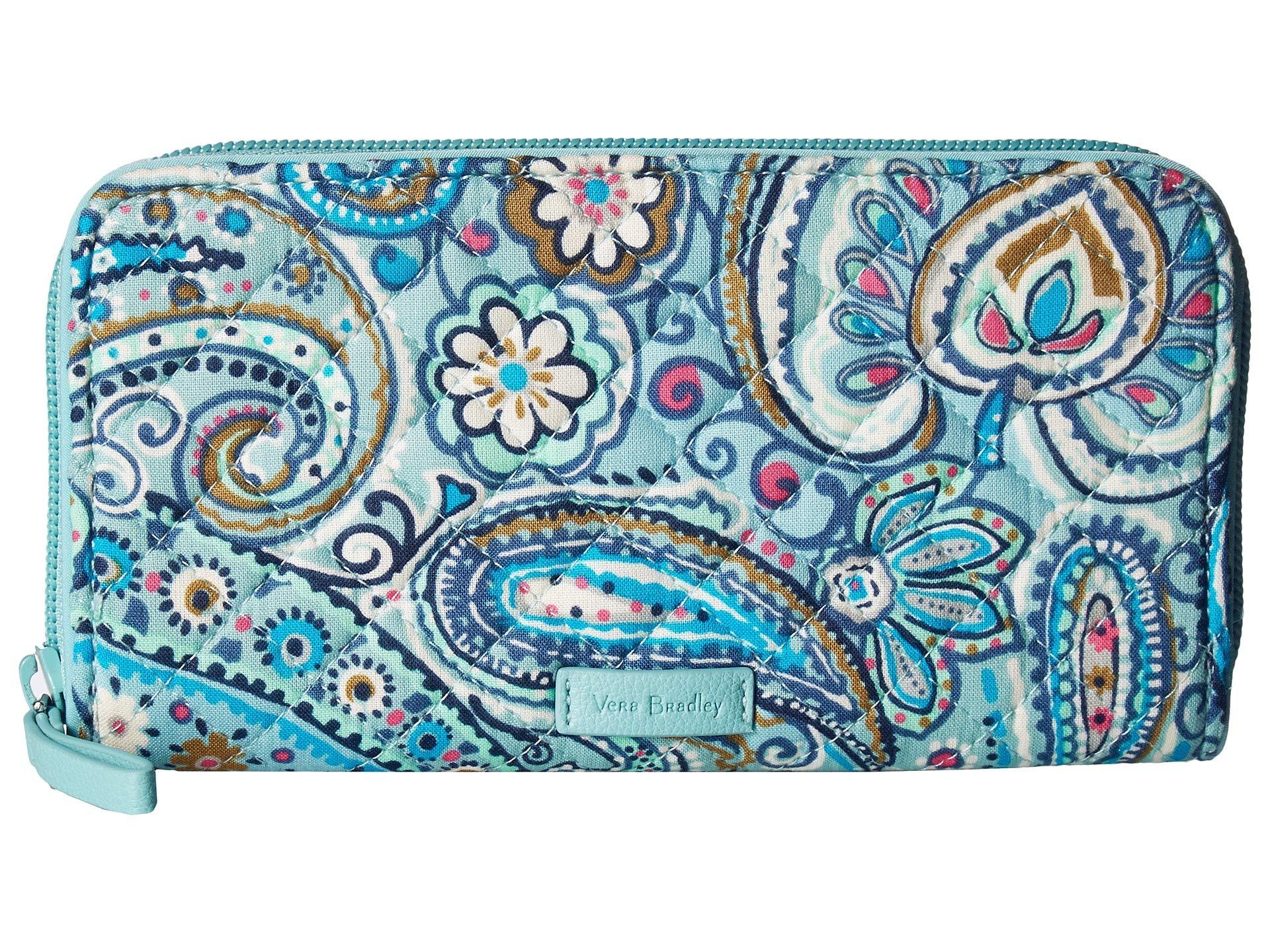 Wallet Vera Georgia Iconic Paisley Dot Bradley Rfid Daisy g4xPqwx1FS
